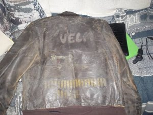 Grandpa's jacket. Velma and the bombs are visible as is a bit of Lady Velma. Indiana Kid is nearly invisible and didn't show up on film.